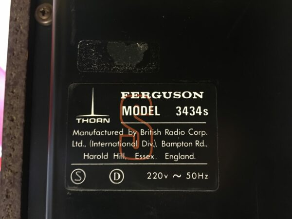 vinyl ferguson 3434 pohjalabel